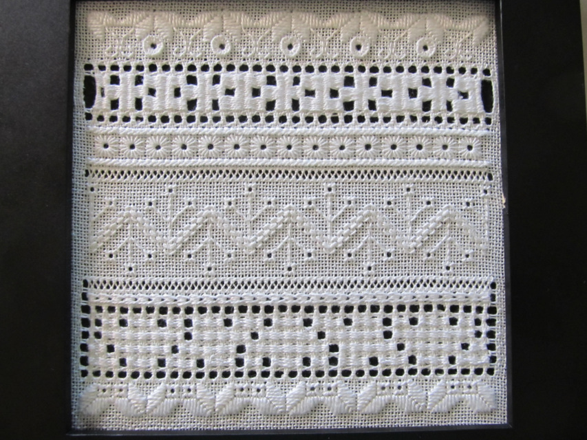 Flowers for sue ukrainian whitework ban sampler